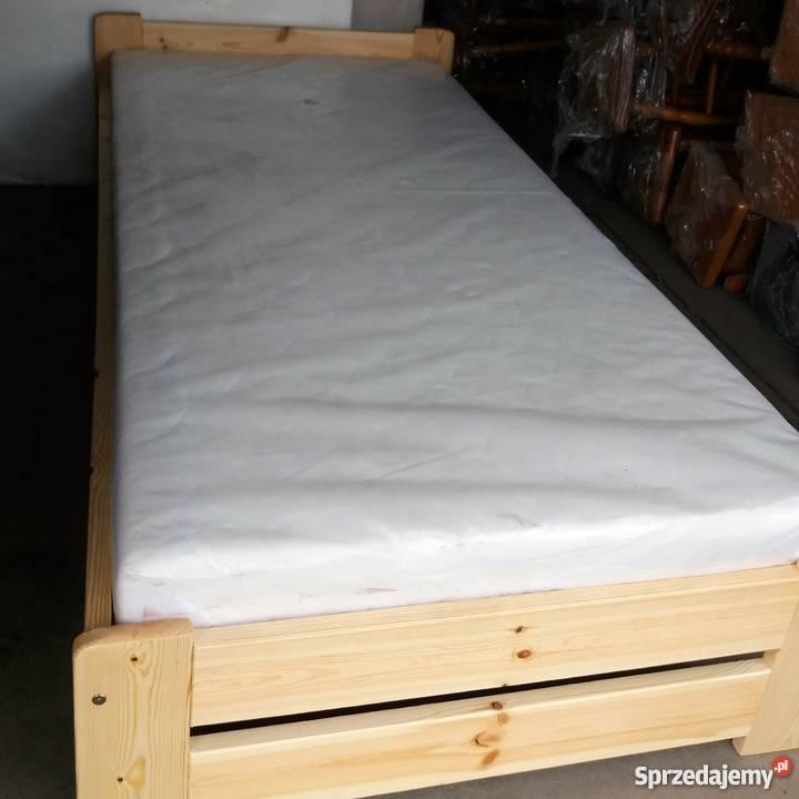 łóżko 90 X 200 Sosnowe Nowe Z Materacem I Stelażem