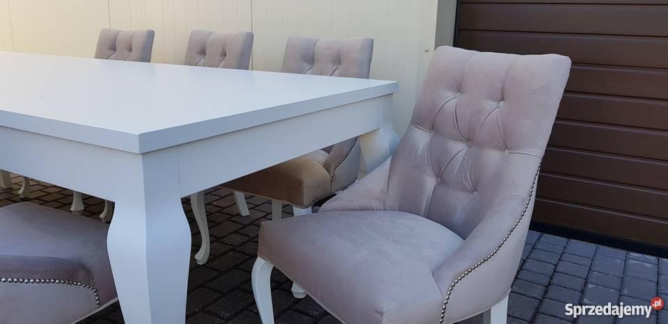 Krzesło nowoczesne tapicerowane pikowane z Stoły, krzesła, biurka Starogard Gdański