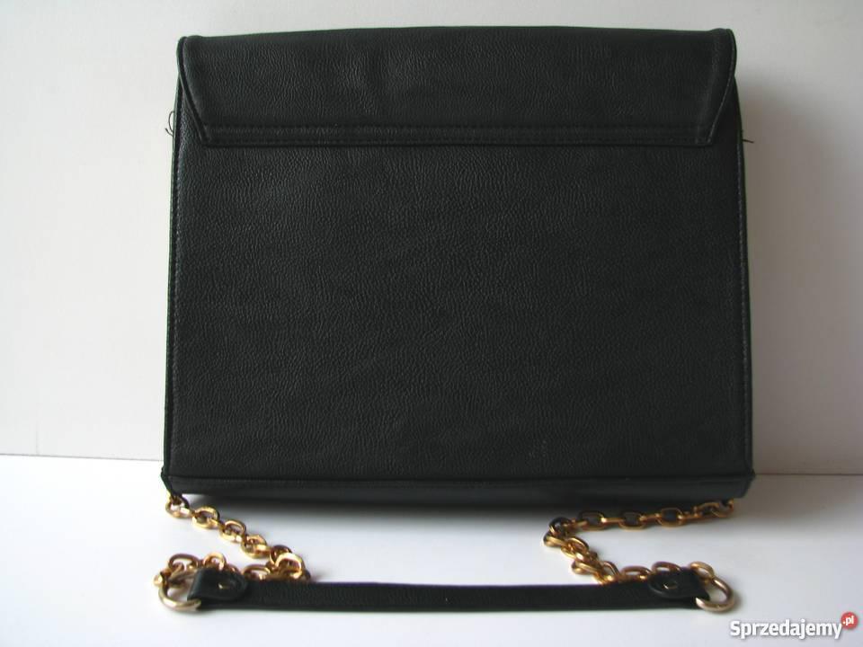 0796d14cc535e torebka MOHITO czarna złote dodatki Dla kobiet Torby i torebki Katowice
