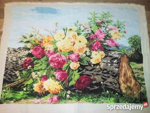 Ogromnie haft krzyżykowy kwiaty - Sprzedajemy.pl IQ41