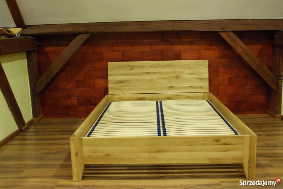 łóżko Drewniane Dębowe Retro 140 X 200