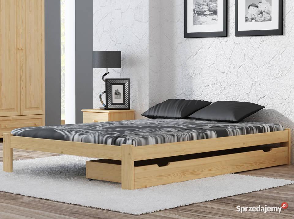Sosnowe Drewniane Łóżko Irys 160x200 cm bez zagłówka, rama
