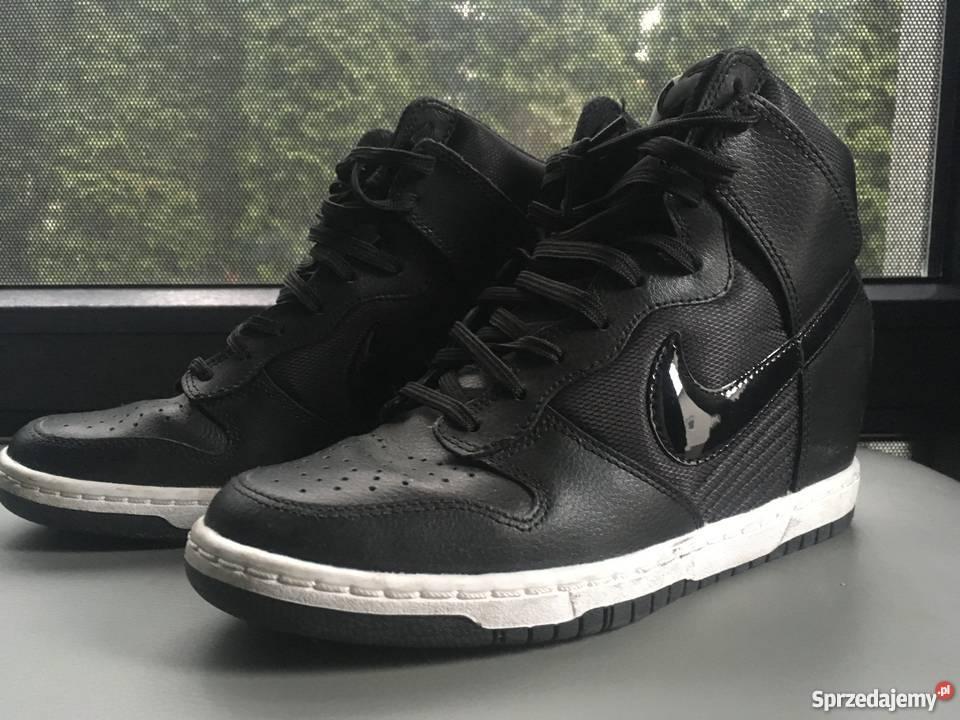 Nike rozm 37, stan idealny, skóra, ukryty koturn