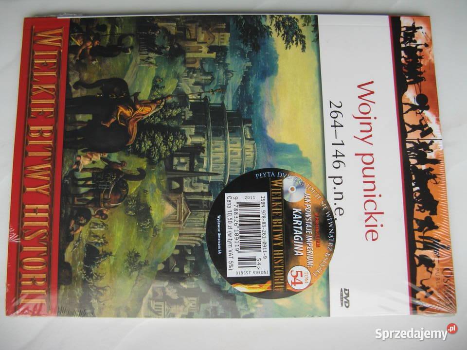 Osprey: Wojny punickie 264 - 146 p.n.e., książka + DVD, Nowa