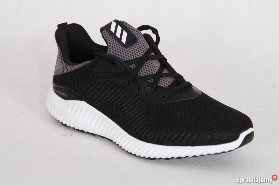 Buty dla dzieci do biegania adidas Alphabounce J czarne BB7095