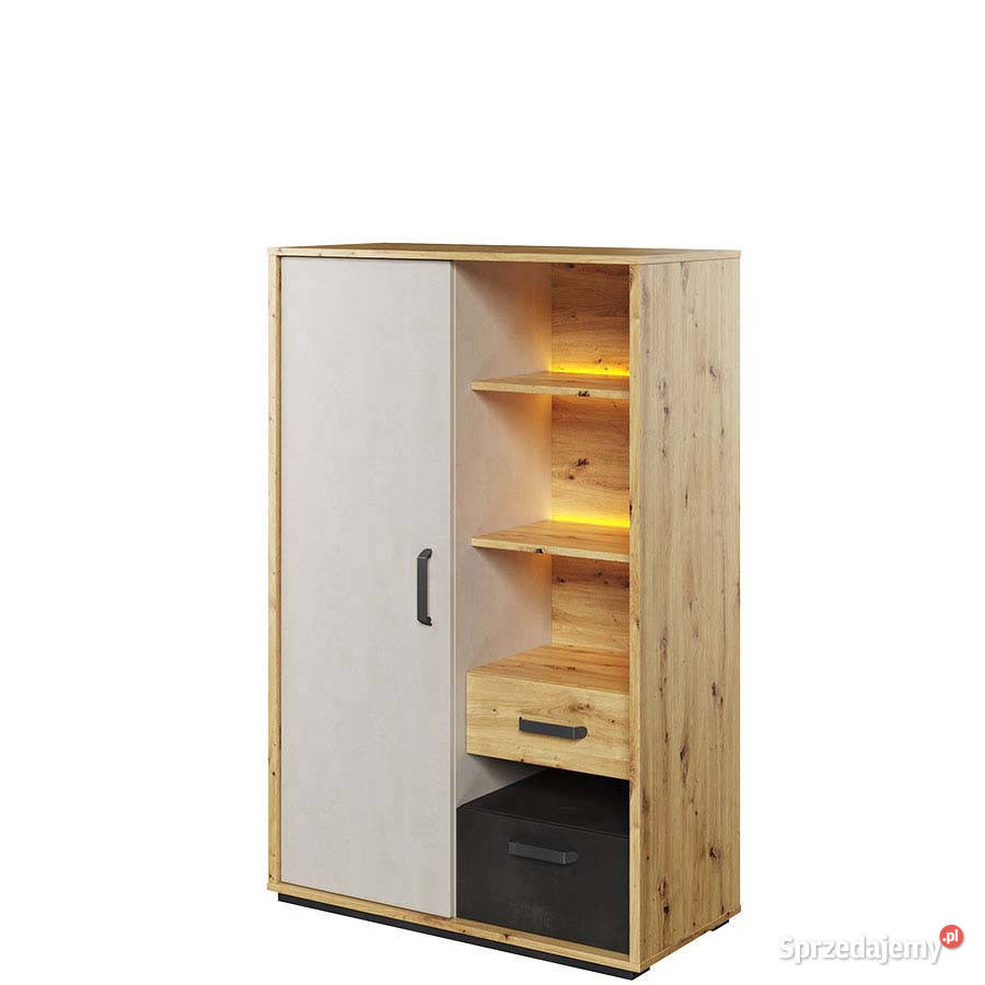 QUBIC QB-05 Szafka 1 drzwiowa z 2 szufladami z oświetleniem