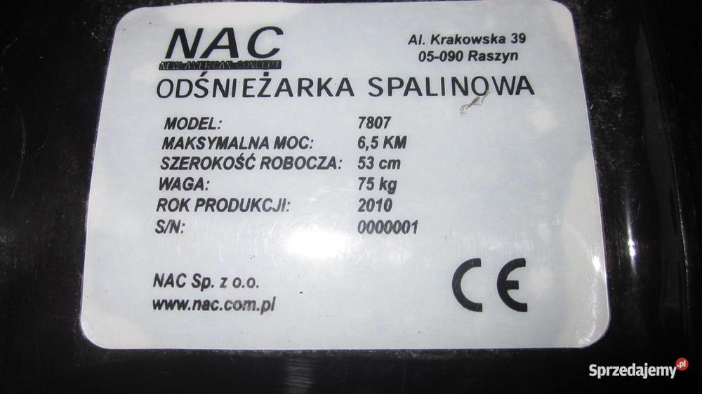 Odśnieżarka spalinowa Tarnów