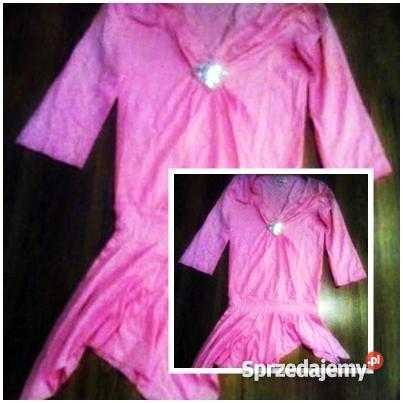 4c65d3b518 Asymetryczna różowa tunika NOWA S - Sprzedajemy.pl