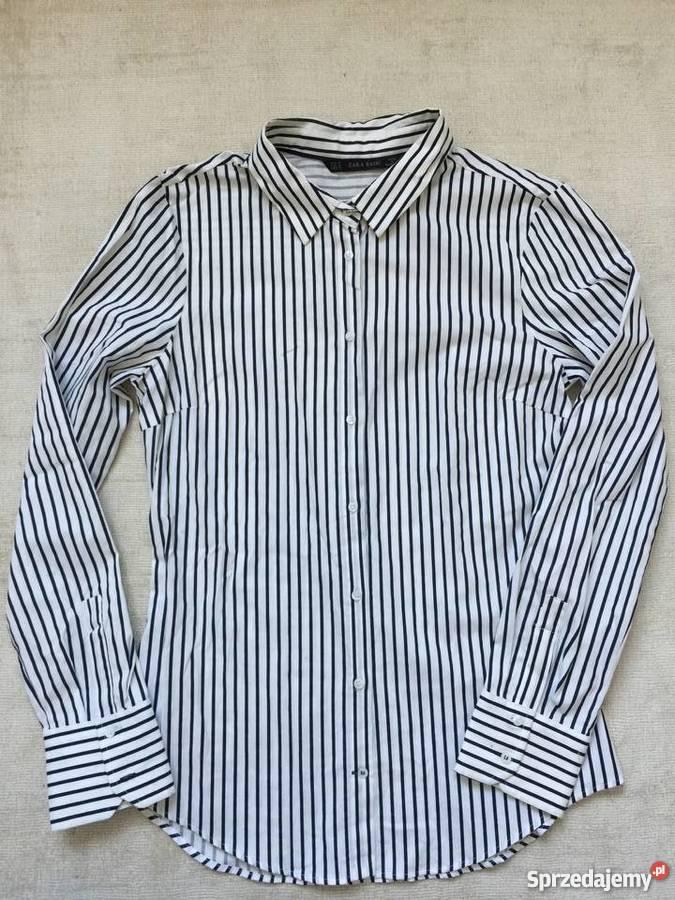 ZARA KOSZULA Z KOKARDĄ w Koszule damskie wzór: paski  Sx5Hf