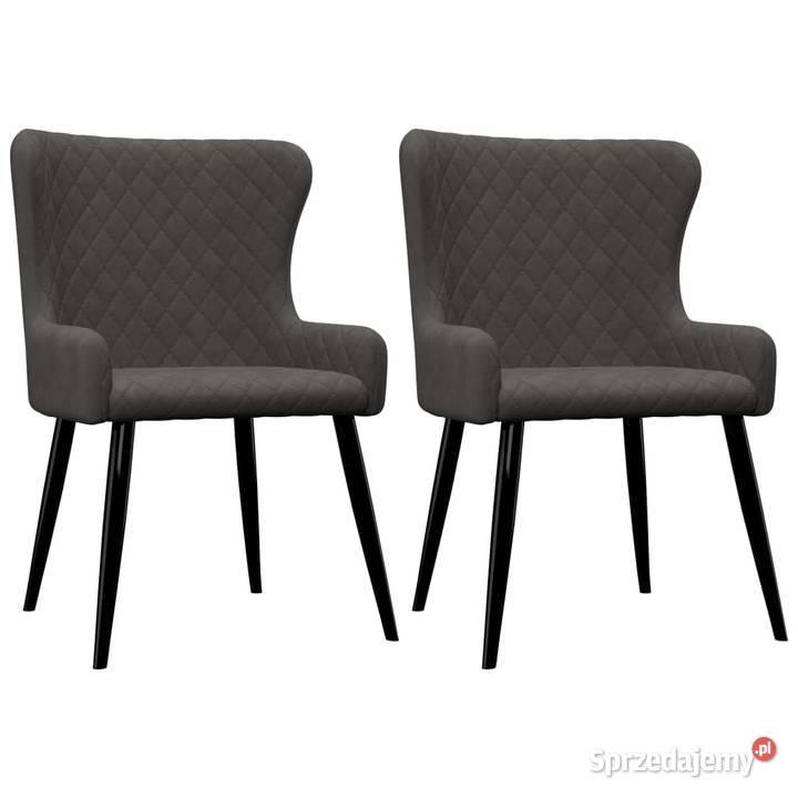 vidaXL Krzesła do jadalni, 2 szt., szare, aksamit 282527