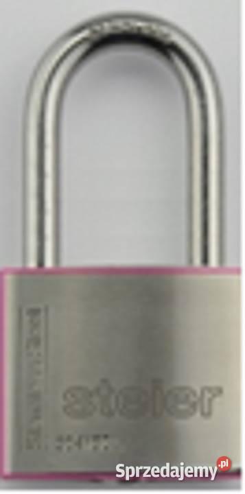 Kłódka STEIER KI-50L nierdzewna długi pałąk