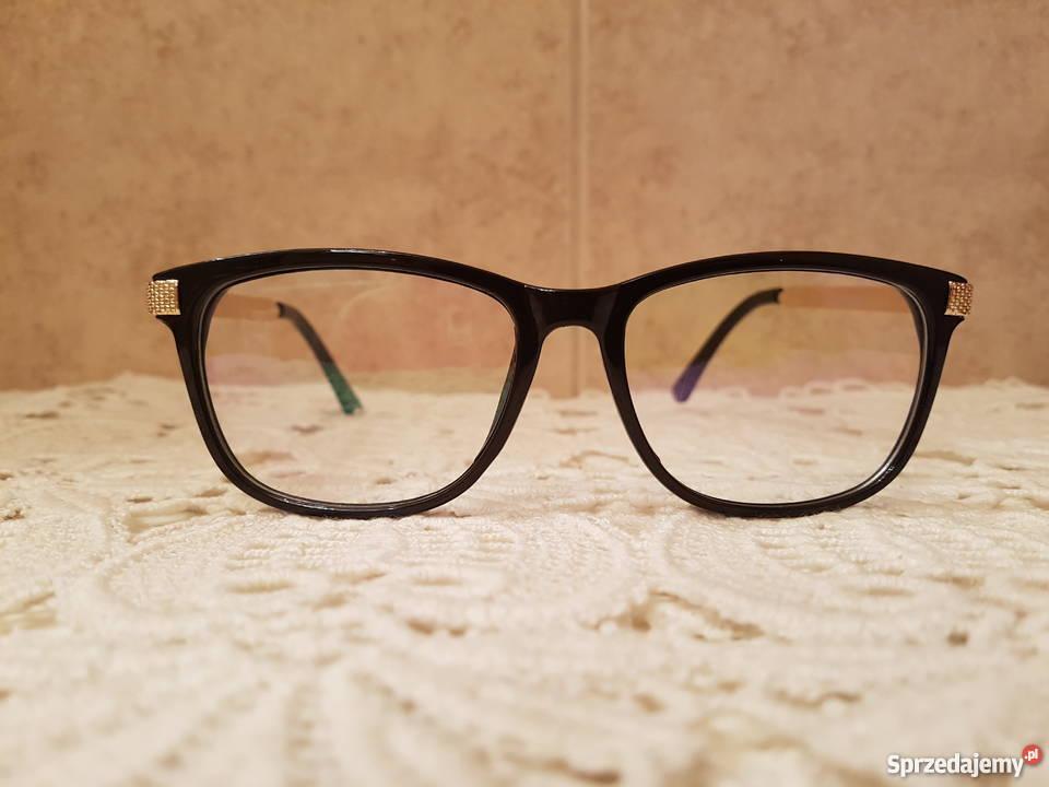 31f49679b453 Oprawki okulary damskie czarno złote styl retro Okulary Gorzów Wielkopolski