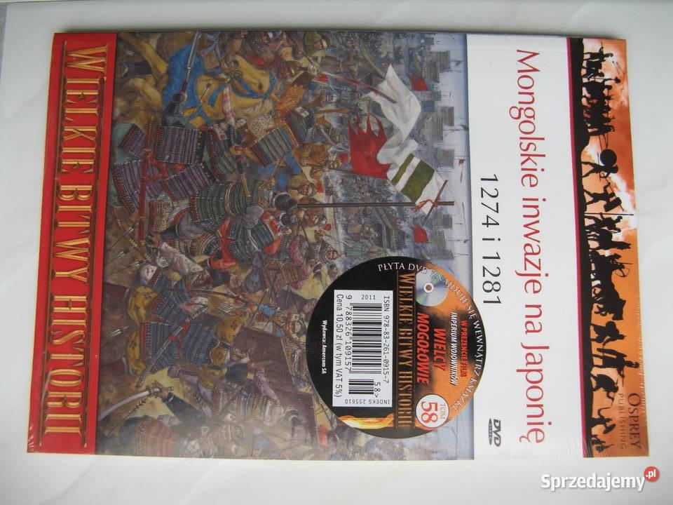 Osprey: Mongolskie inwazje na Japonię, książka + DVD, Nowa!
