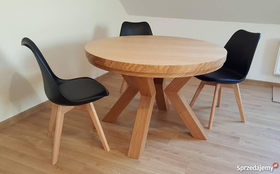 Stół Dębowy Okrągły Promocja Krosno Sprzedajemypl
