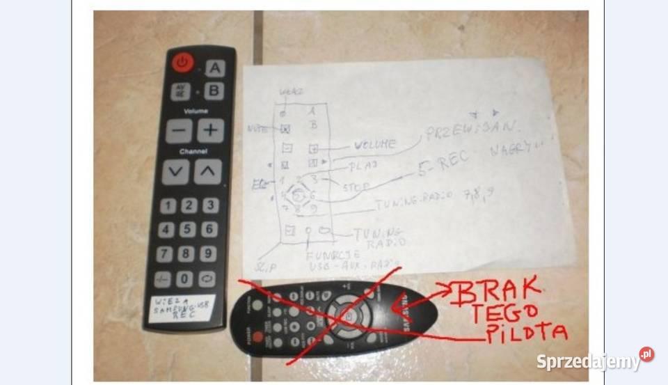 pilot samsung wieża cd,mp3,usb MM-E320,E330