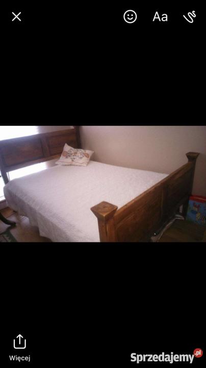 łóżko palisandrowe 152cm Warszawa