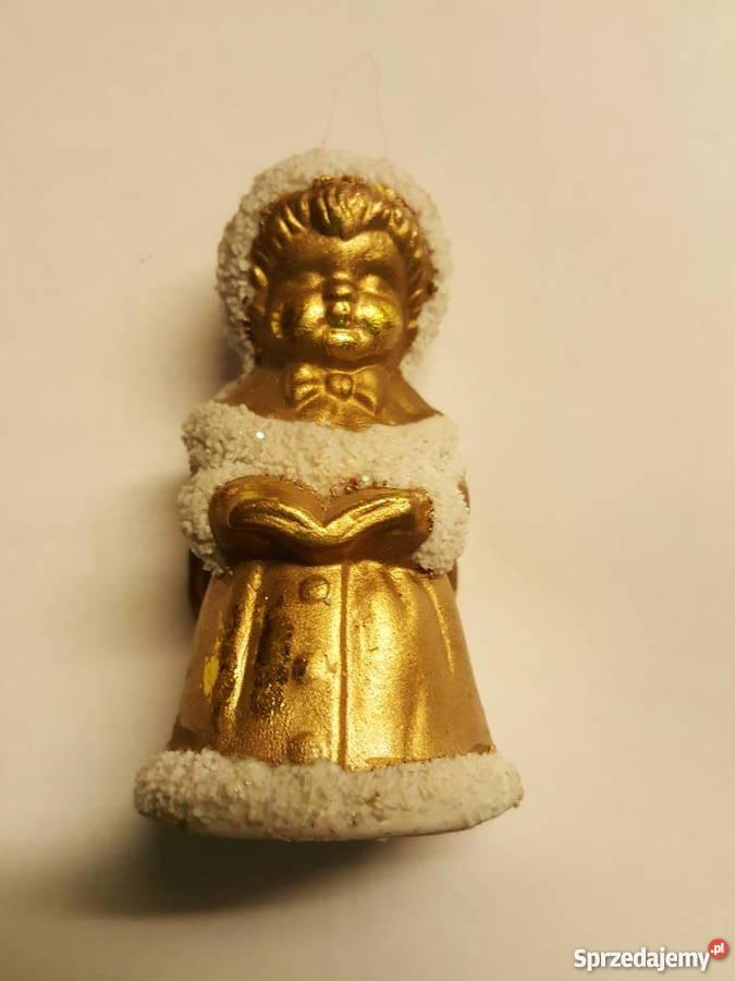 ANIOŁEK stojący figurka ozdoba święta Złotniki