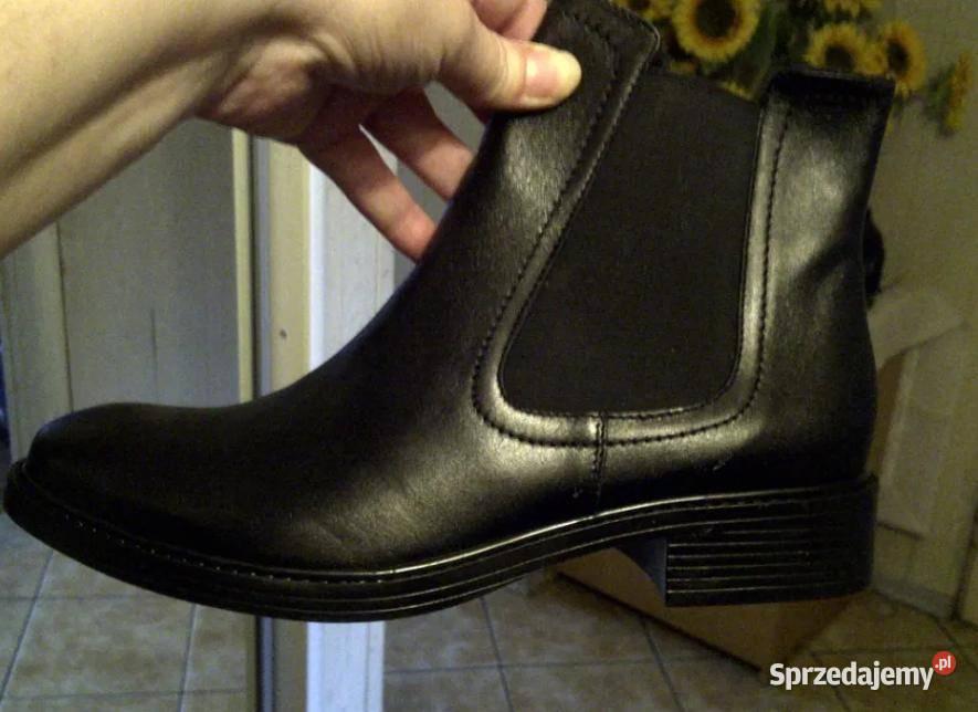 Nowe ocieplane botki buty kozaki skóra 41 40