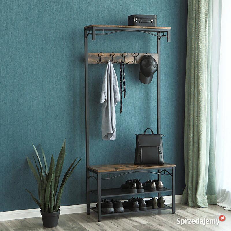 Stojący wieszak garderoba przedpokój półka na buty SOHSR45BX