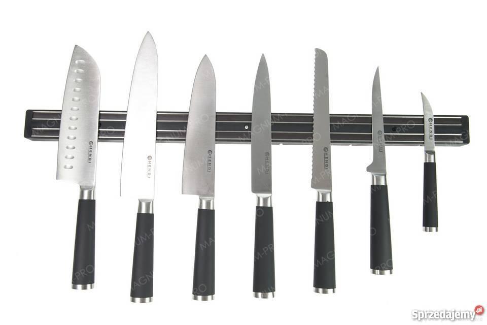 Magnetyczna listwa na noże 60 6 haczyków Hendi Gastronomia śląskie Częstochowa