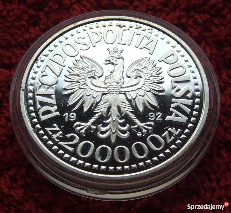 MONETA 200000 KRÓL WŁADYSŁAW WARNEŃCZYK 1992 Katowice