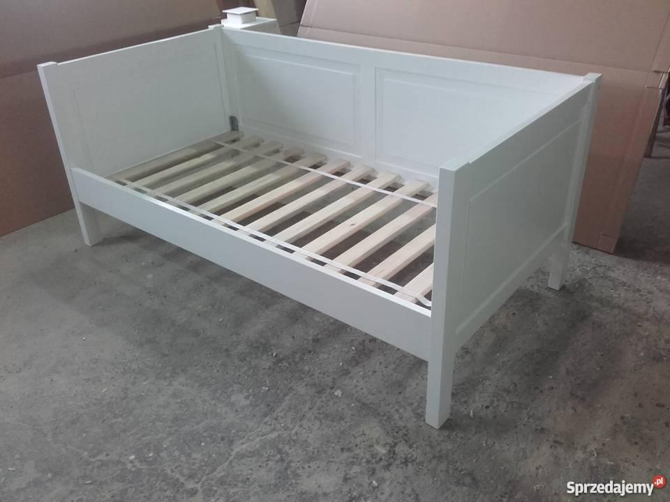 Łóżko drewniane biale 80x160