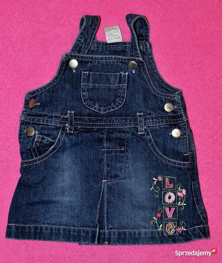 21a59427 Jeansowa sukieneczka dla dziewczynki na 0 - 3 m-ce