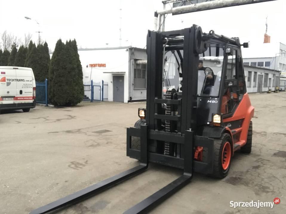 Linde H80 T - Wózek widłowy używany 8 ton udźwigu Gwarancja