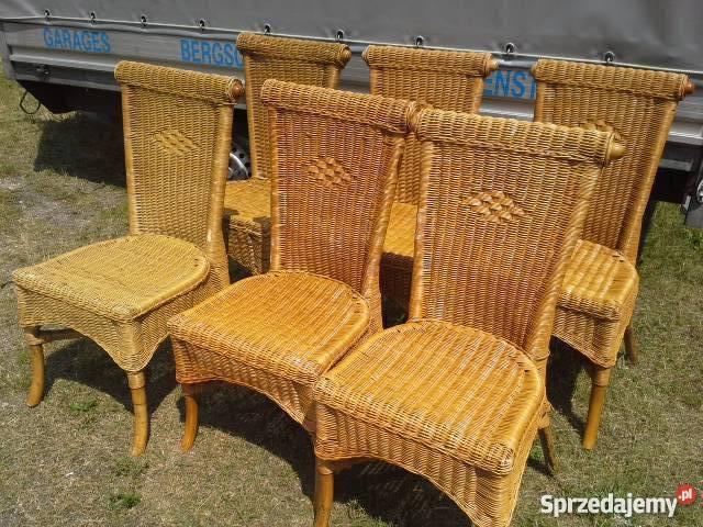 krzesła ratanowo-wiklinowe duzy wybór