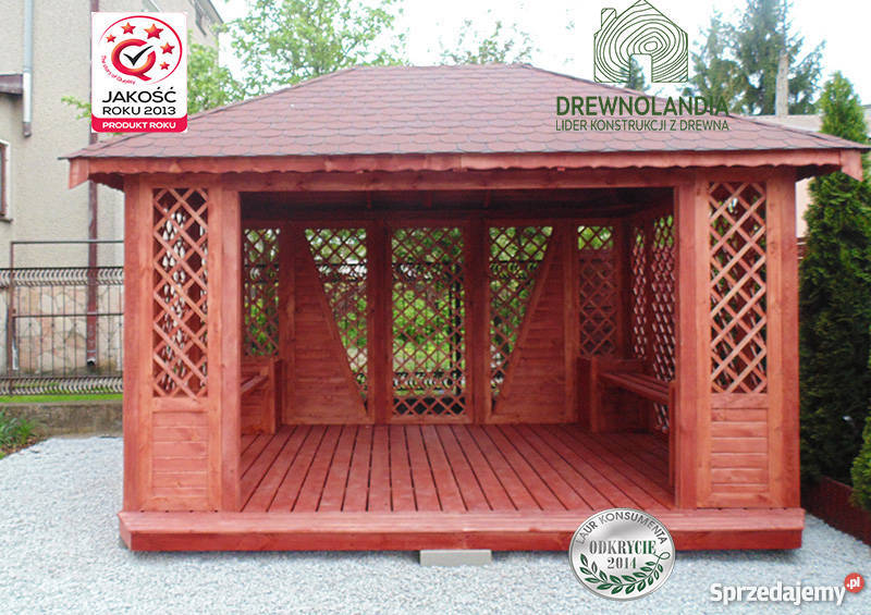 Altana Ogrodowa Altanka 3x4 Drewniana Domek 100 Drewnolandia