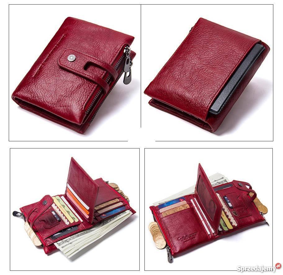 8260f8fa431b4 40% Skórzany portfel męski ContactS skóra naturalna Czeladź ...