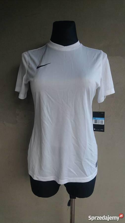 04ef520d02a428 nowa biała koszulka sportowa NIKE damska M nowa sprzedam. nowa biała  koszulka sportowa NIKE damska M nowa Inny materiał Zembrzyce