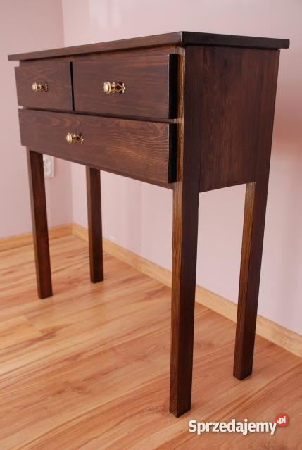 stolik konsola toaletka stoliczek drewniane Bielice
