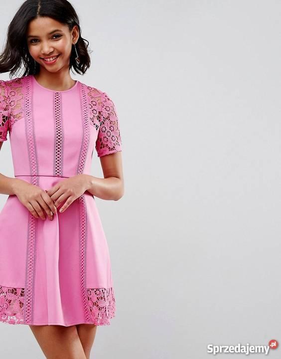 91add0efee Sukienka z haftem ASOS koronka rozkloszowana Rozmiar 34(XS) podkarpackie  Rzeszów sprzedam