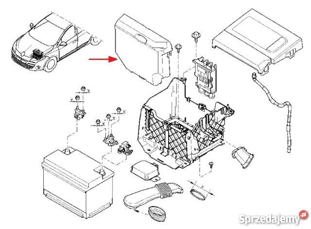 os u0142ona pokrywa akumulatora megane iii scenic iii