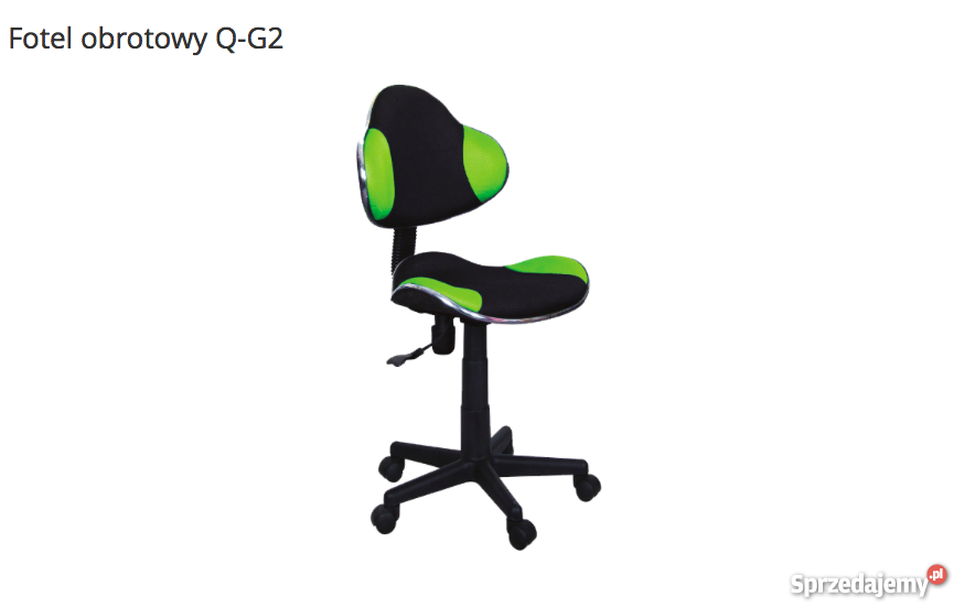 Fotel Obrotowy Q G2 Zielony Czarny Krzesło Do Biurka Nowe