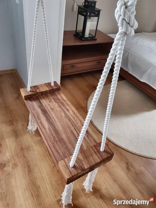 Huśtawka drewniana dębowa Cozy Scandinavian Loft beże i brązy  łódzkie Łódź