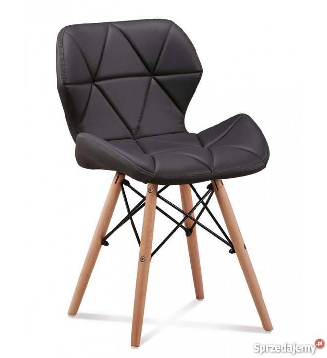 Nowoczesne pikowane krzesło Milo 8 kolorów 49cm Stoły, krzesła, biurka dolnośląskie