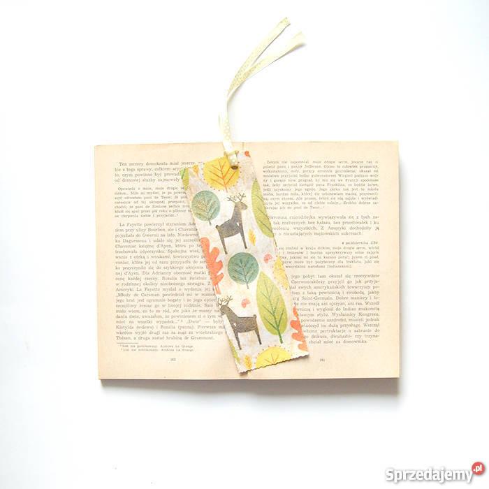 ładna zakładka do książki z jelonkamikolorowa sprzedam