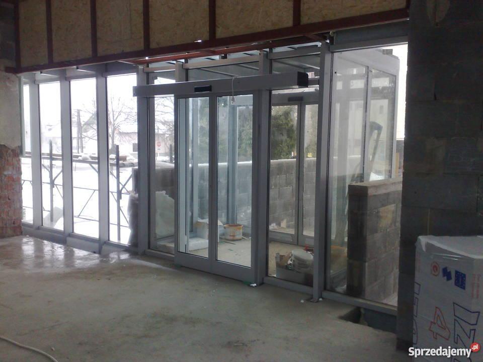 Ogromny Drzwi aluminiowe przesuwne automatyczne PRODUCENT Nowy Sącz OU73