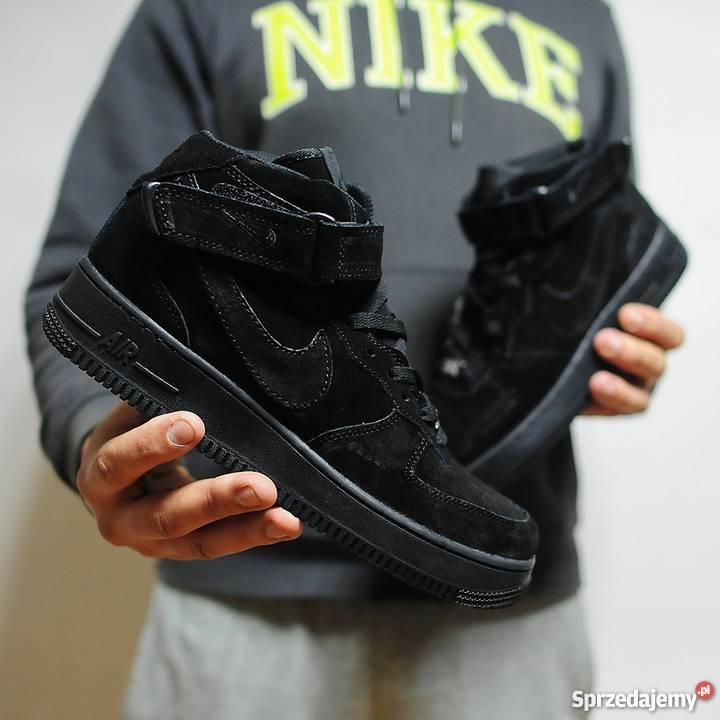 Nike Air Force 1 Mid Winter All Black r4145 Rozmiar 43 Lublin sprzedam 5205f65747c3