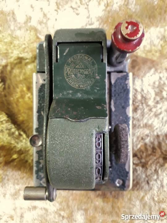 Protectograph- maszyna licząca i drukująca czeki