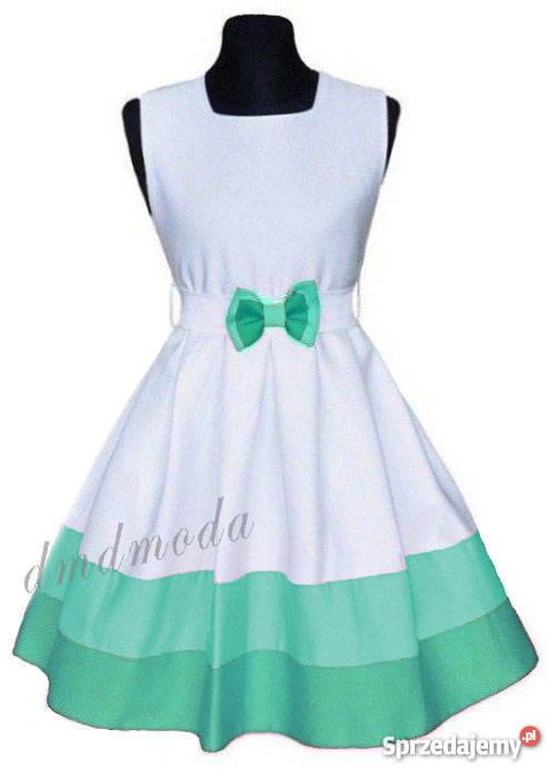 fefc4795 Elegancka sukienka Szarotka + bolerko rozmiar 158 ostatnie