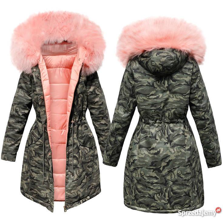 kurtki skóropodobne damskie zimowe
