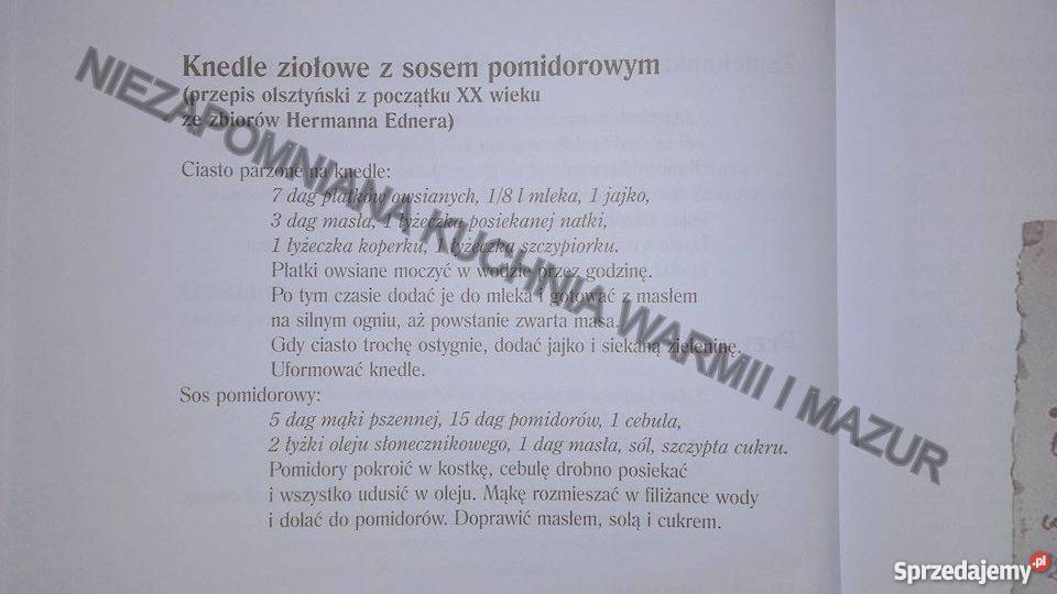 Niezapomniana Kuchnia Warmii I Mazur 300 Przepisów