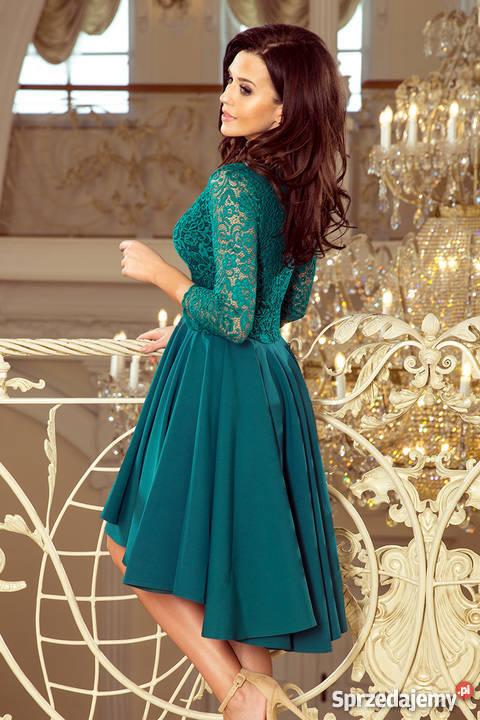 d413ff8834561b JOKA NICOLLE sukienka zielona koronka S M L XL Spódnice i sukienki śląskie