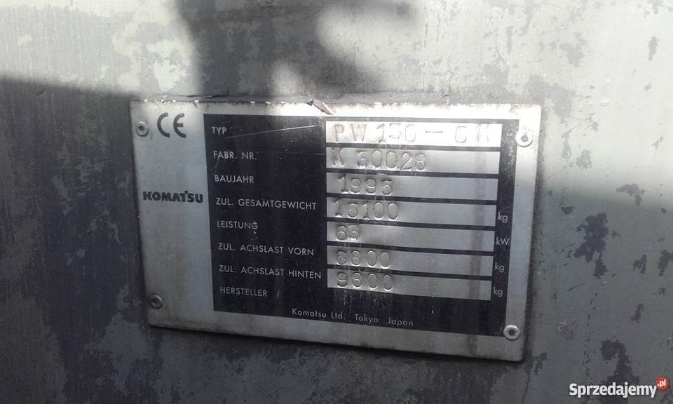 Koparka kołowa KOMATSU PW1306K