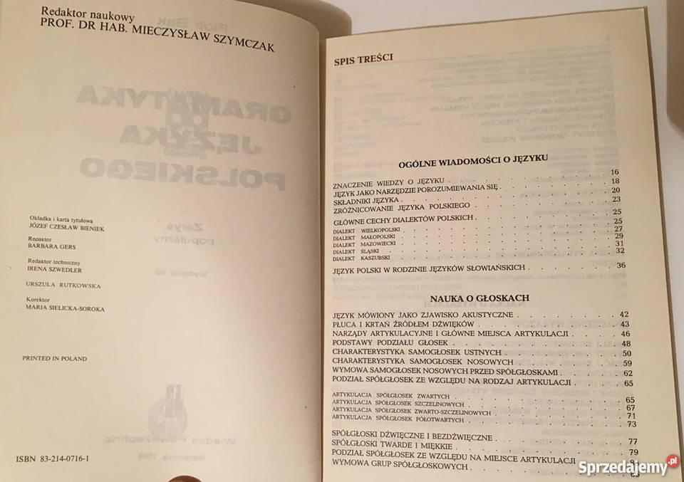 piotr bąk gramatyka języka polskiego