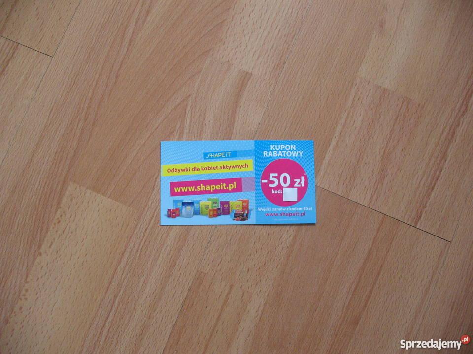 Kupon rabatowy 50 SHAPE IT odżywki aktywnych Chorzów