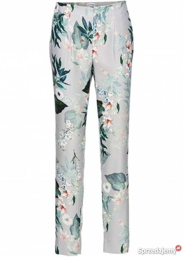 B.p.c. zwiewne spodnie w kwiaty gumka w pasie 36.